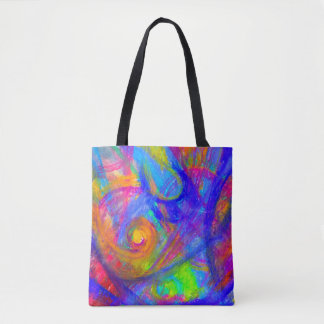 Rainbow Wild Tote | Color Crazy Pastel Abstract