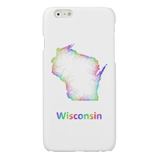 Rainbow Wisconsin map