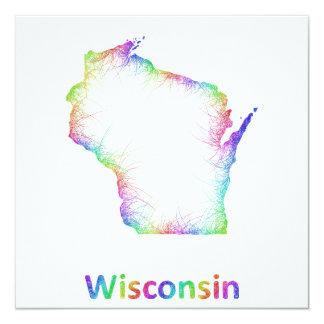Rainbow Wisconsin map Card
