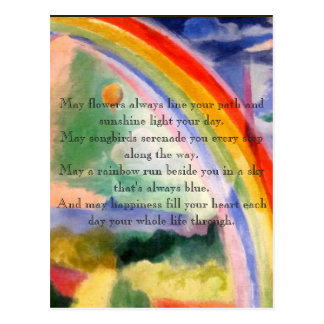 Rainbow Wishes Postcard