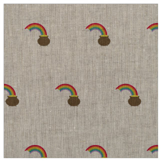 rainbow with gold fabric
