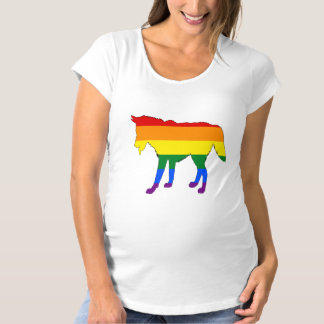 Rainbow Wolf Maternity T-Shirt