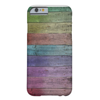 Rainbow Wood iPhone 6/6s, Barely There Phone Case