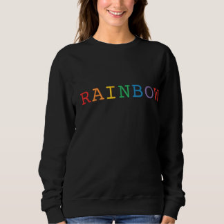Rainbow Word Embroidered Sweatshirt