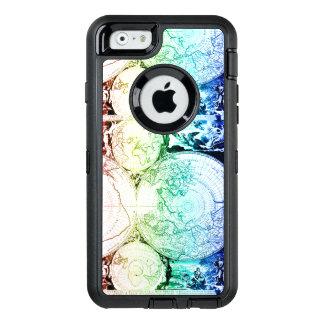 Rainbow World Map Atlas Design OtterBox Defender iPhone Case