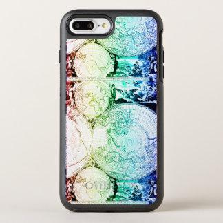 Rainbow World Map Atlas Design OtterBox Symmetry iPhone 8 Plus/7 Plus Case