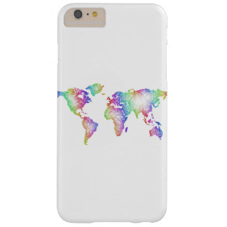 Rainbow World map Barely There iPhone 6 Plus Case