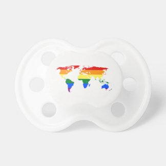 Rainbow World Map BooginHead (0-6 months) Pacifier