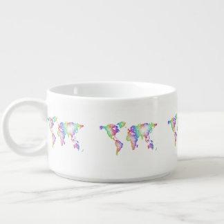 Rainbow World map Bowl