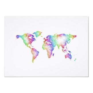 Rainbow World map Card