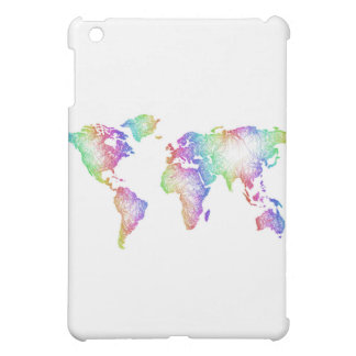 Rainbow World map Case For The iPad Mini