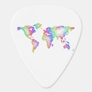 Rainbow World map Guitar Pick