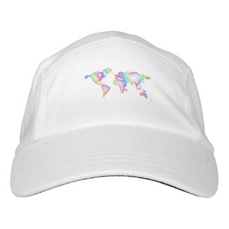 Rainbow World map Hat