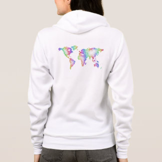 Rainbow World map Hoodie