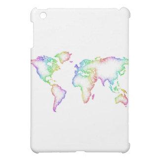 Rainbow World map iPad Mini Case