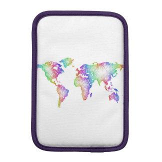 Rainbow World map iPad Mini Sleeve