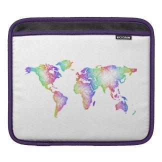 Rainbow World map iPad Sleeve