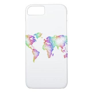 Rainbow World map iPhone 8/7 Case