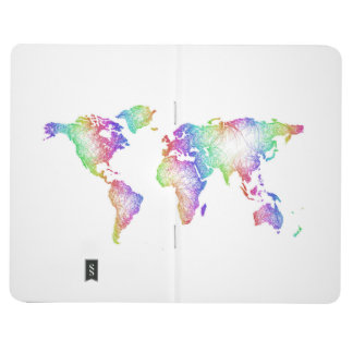 Rainbow World map Journal