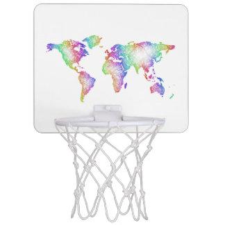 Rainbow World map Mini Basketball Hoop