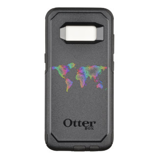 Rainbow World map OtterBox Commuter Samsung Galaxy S8 Case