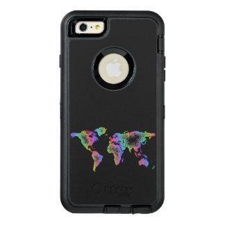 Rainbow World map OtterBox Defender iPhone Case