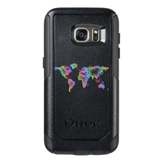 Rainbow World map OtterBox Samsung Galaxy S7 Case