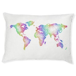 Rainbow World map Pet Bed