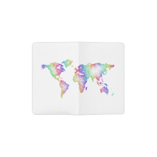 Rainbow World map Pocket Moleskine Notebook