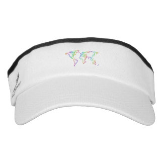 Rainbow World map Visor