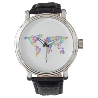 Rainbow World map Watch