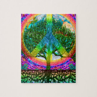 Rainbow World Peace Puzzle
