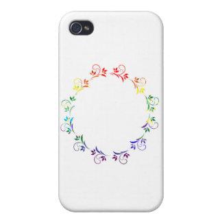 rainbow wreath 2 copy iPhone 4/4S case