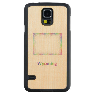 Rainbow Wyoming map Maple Galaxy S5 Slim Case