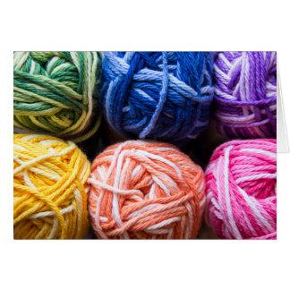 Rainbow yarn card