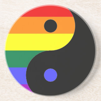 Rainbow Yin and Yang - LGBT Pride Rainbow Colors Coaster