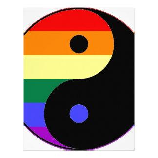 Rainbow Yin and Yang - LGBT Pride Rainbow Colors Letterhead