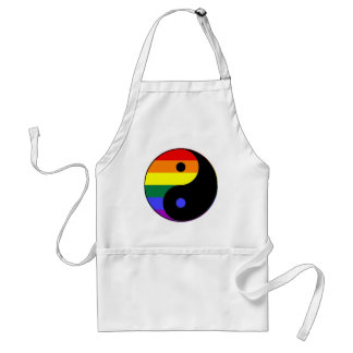 Rainbow Yin and Yang - LGBT Pride Rainbow Colors Standard Apron
