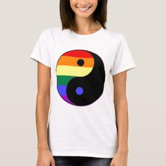 Rainbow Yin and Yang - LGBT Pride Rainbow Colors T-Shirt