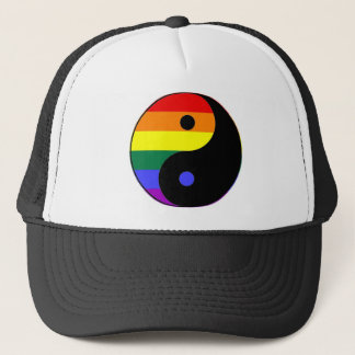Rainbow Yin and Yang - LGBT Pride Rainbow Colors Trucker Hat