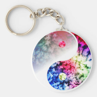Rainbow Yin Yang Keychain