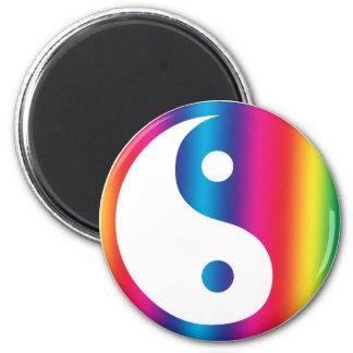 Rainbow Yin Yang Magnet