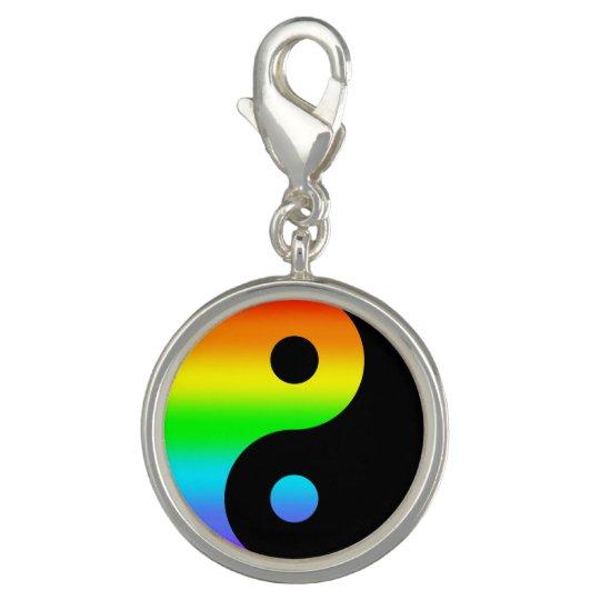 Rainbow Yin Yang Symbol Photo Charms