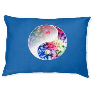 Rainbow Yin Yang Yoga Doga Pillow Large Dog Bed