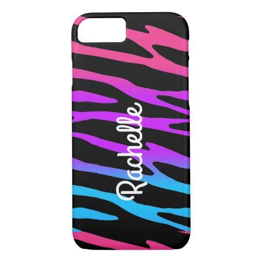Rainbow Zebra Animal Pattern Print Teen Girl iPhone 7 Case