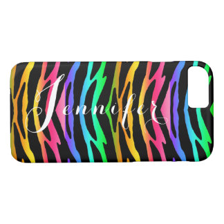 Rainbow Zebra Animal Pattern Print Teen Girl iPhone 8/7 Case
