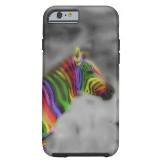 Rainbow Zebra Tough iPhone 6 Case