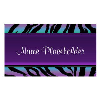 Rainbow Zebra Fun Collection Pack Of Standard Business Cards