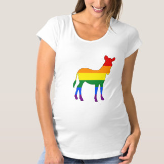 Rainbow Zebra Maternity T-Shirt