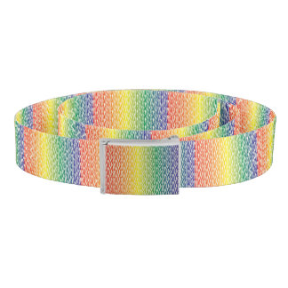 Rainbow Zebra Pattern Print Belt